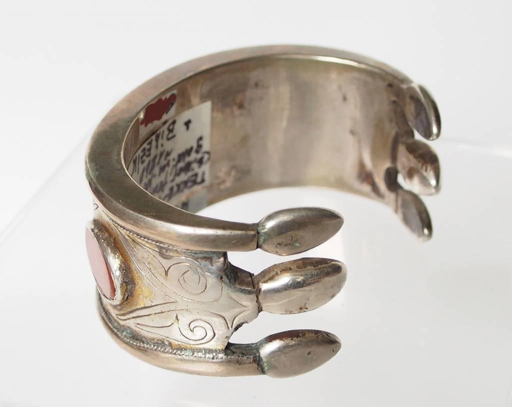 Antik Turkmenische Tekke - Silber Armreif  (Bilezik) Nr:17/485
