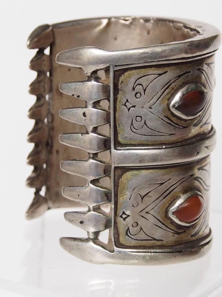 Antik Turkmenische Tekke - Silber Armreif  (Bilezik) Nr:17/490