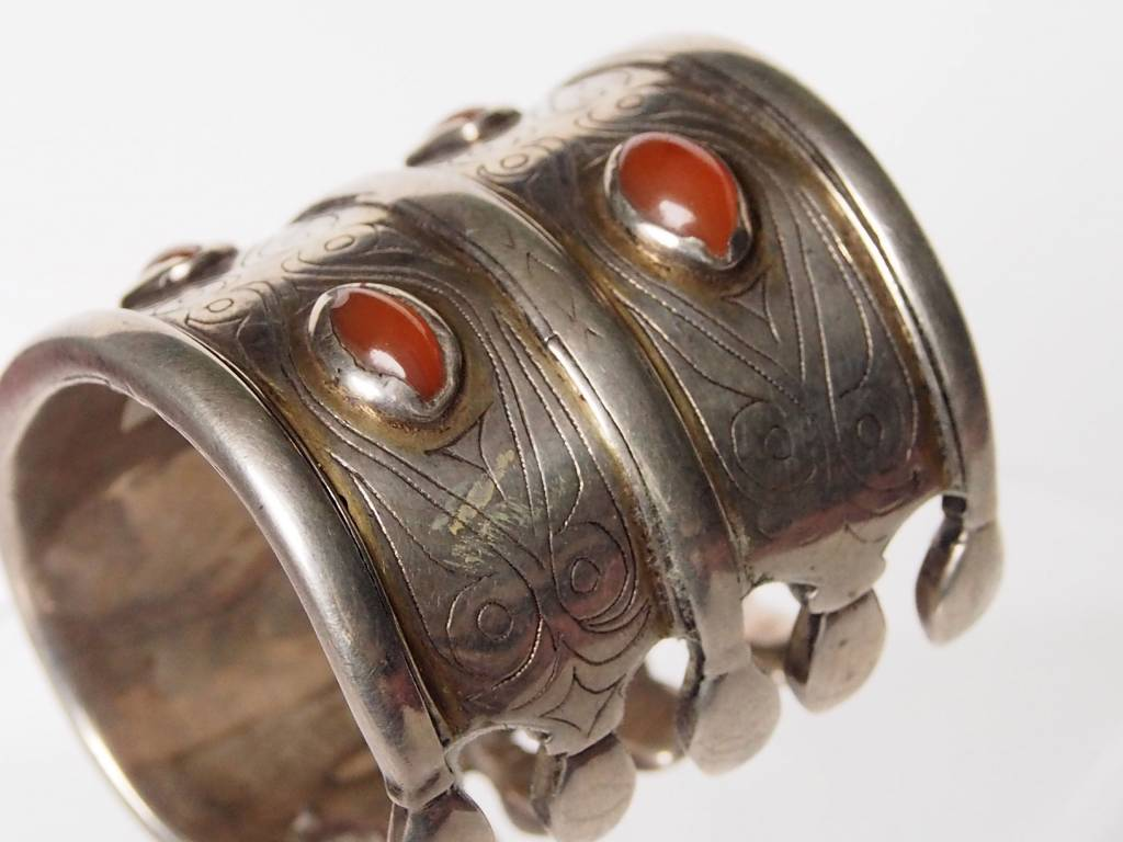 Antik Turkmenische Tekke - Silber Armreif  (Bilezik) Nr:17/491