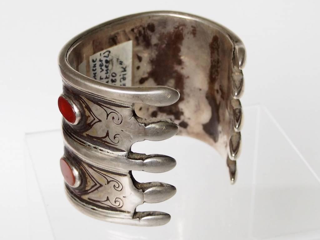 Antik Turkmenische Tekke - Silber Armreif  (Bilezik) Nr:17/493