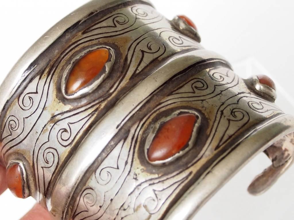 Antik Turkmenische Tekke - Silber Armreif  (Bilezik) Nr:17/497