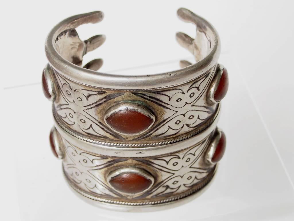 Antik Turkmenische Tekke - Silber Armreif  (Bilezik) Nr:17/498