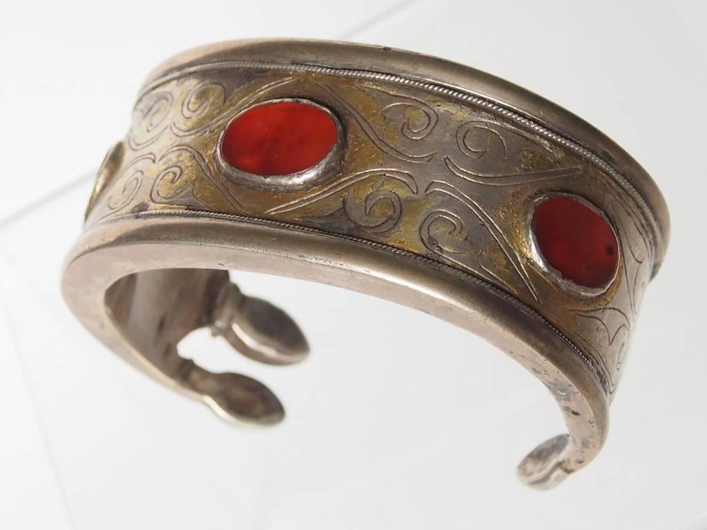 Antik Turkmenische Tekke - Silber Armreif  (Bilezik) Nr:17/505