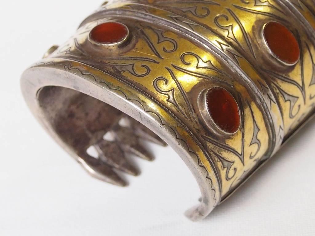ein Paar Antik Turkmenische Tekke - Silber Armreif  (Bilezik) Nr:17/363