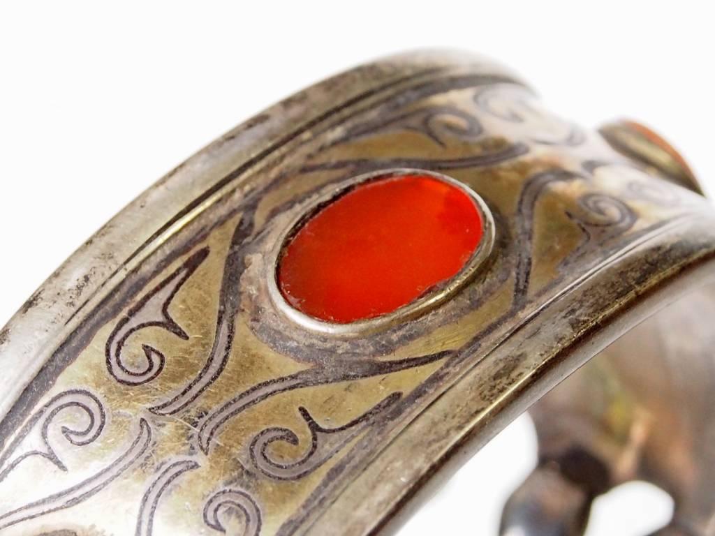 Antik Turkmenische Tekke - Silber Armreif  (Bilezik) Nr:17/ 367