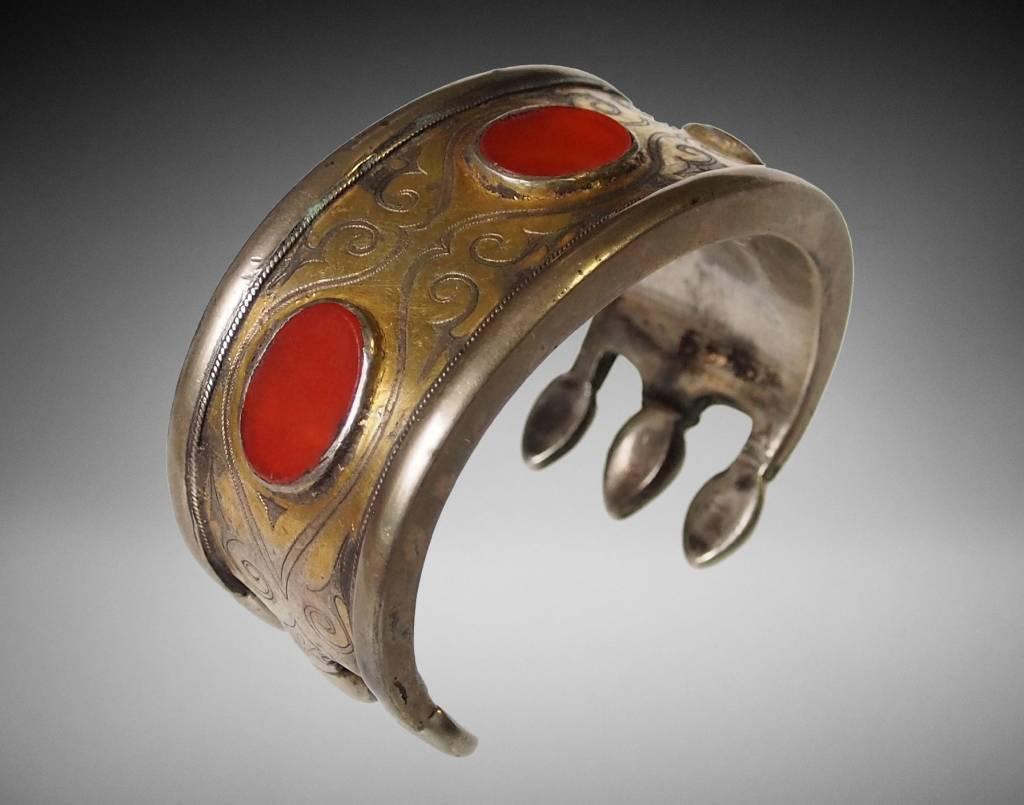Antik Turkmenische Tekke - Silber Armreif  (Bilezik) Nr:17/ 369