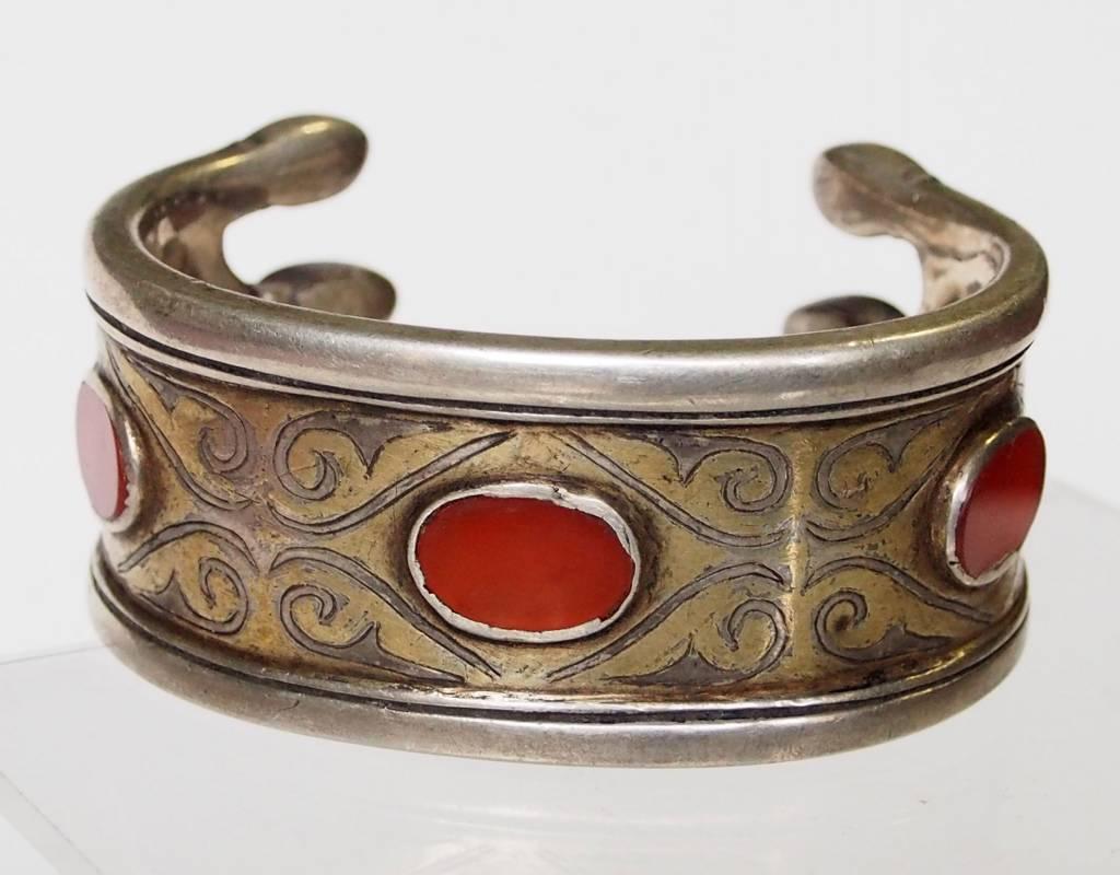 Antik Turkmenische Tekke - Silber Armreif  (Bilezik) Nr:17/ 373
