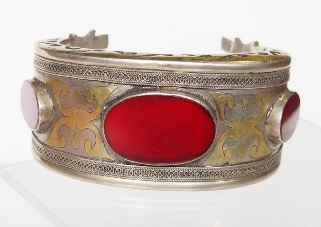 Antik Turkmenische Tekke - Silber Armreif  (Bilezik) Nr:17/  374