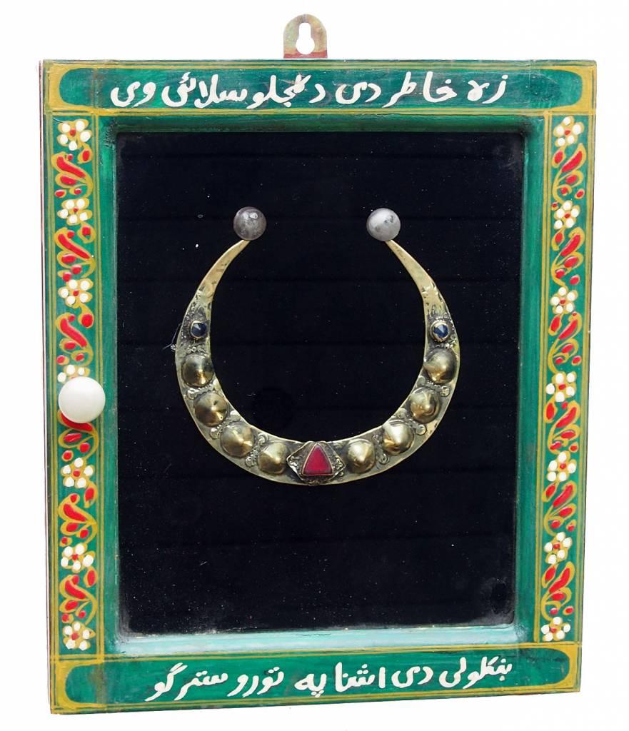 Wandvitrine Hängevitrine Afghanistan antike nomaden Schmuck Orient Geschenk 17/1