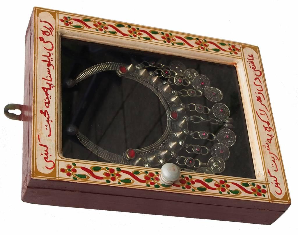 Wandvitrine Hängevitrine Afghanistan antike nomaden Schmuck Orient Geschenk 17/2
