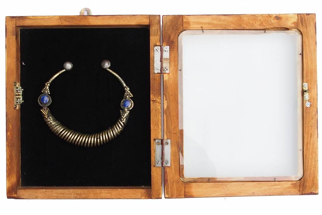 Wandvitrine Hängevitrine Afghanistan antike nomaden Schmuck Orient Geschenk 17/4