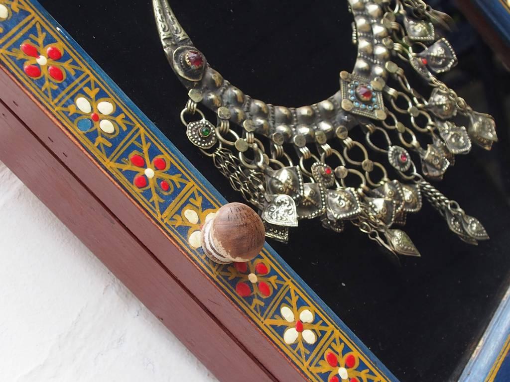 Wandvitrine Hängevitrine Afghanistan antike nomaden Schmuck Orient Geschenk 17/6