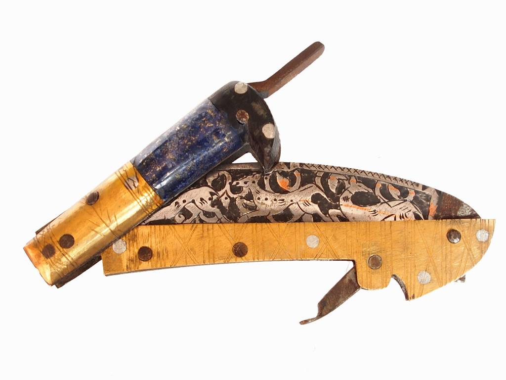 30 cm Knife Islamic scythe Short sword Dagger choora Pesh kabze  lohar Knife Khyber sickle Pick lapis  handle afghanistan pakistan : 17/B