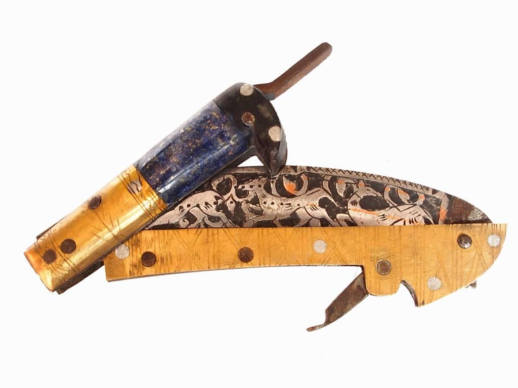 Messer Dolch choora dagger lohar Khybe messer Klappsense  Sense aus Afghanistan Pakistan Nr:17/ C