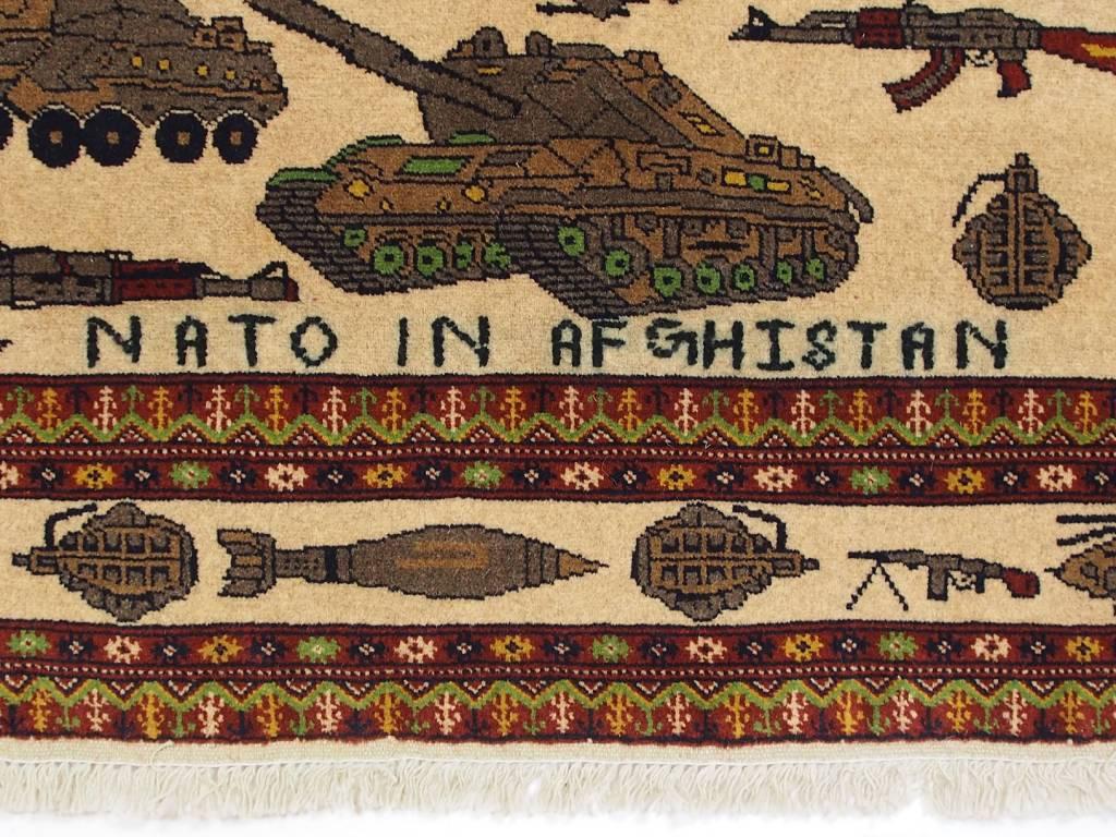 185x120 cm NATO ISAF Afghanistan Kerigteppich warrug Nr:2