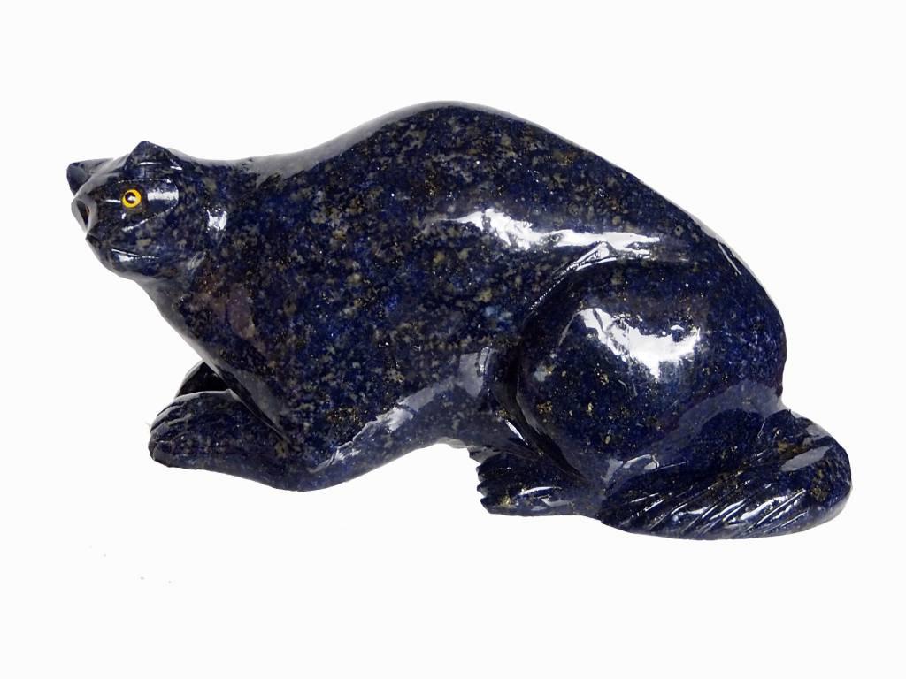 Extravagant echt Lapis lazuli Katze tier figur briefbeschwere Afghanistan Nr:390