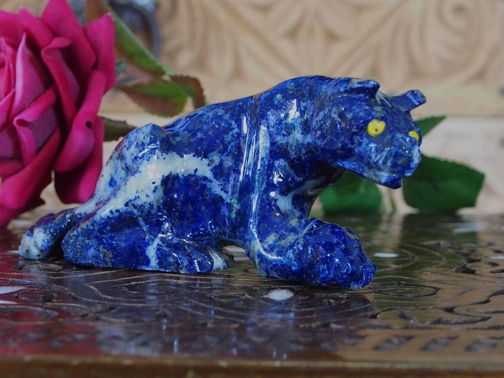Lapis lazuli leopard Löwe Katze jaguar raubkatze tiger Puma afghanistan Nr:385