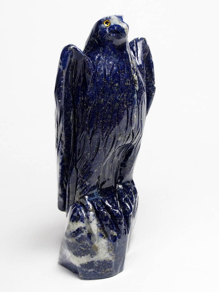 Afghan Lapis Tierfigur Edelstein Adler falke briefbeschwerer eagle Falcon Nr:381