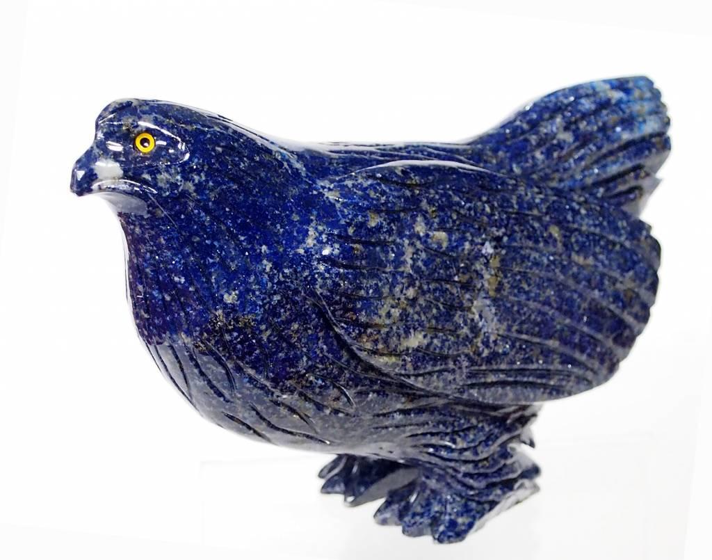 Tierfigur EdelsteinLapis lazuli huhn chicken hen fowl pullet briefbeschwere N383