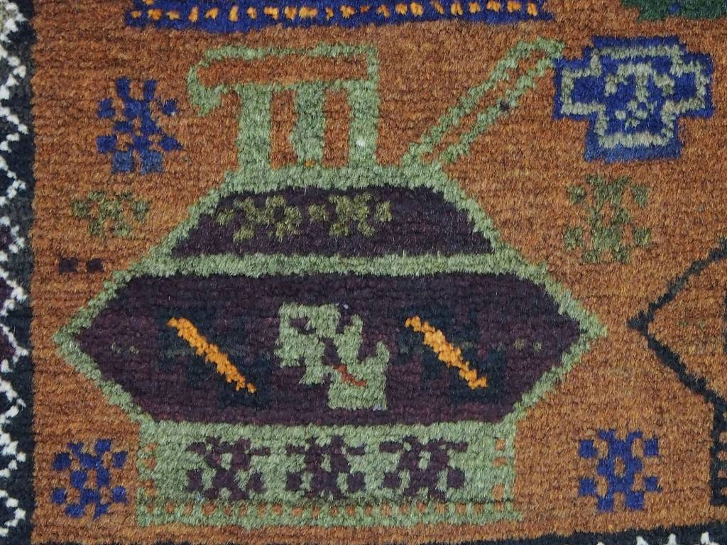 5,9 x 3,3 feet unique genuine old nomadic Afghan Warrug from Russian invasion period of Afghanistan No:17/1