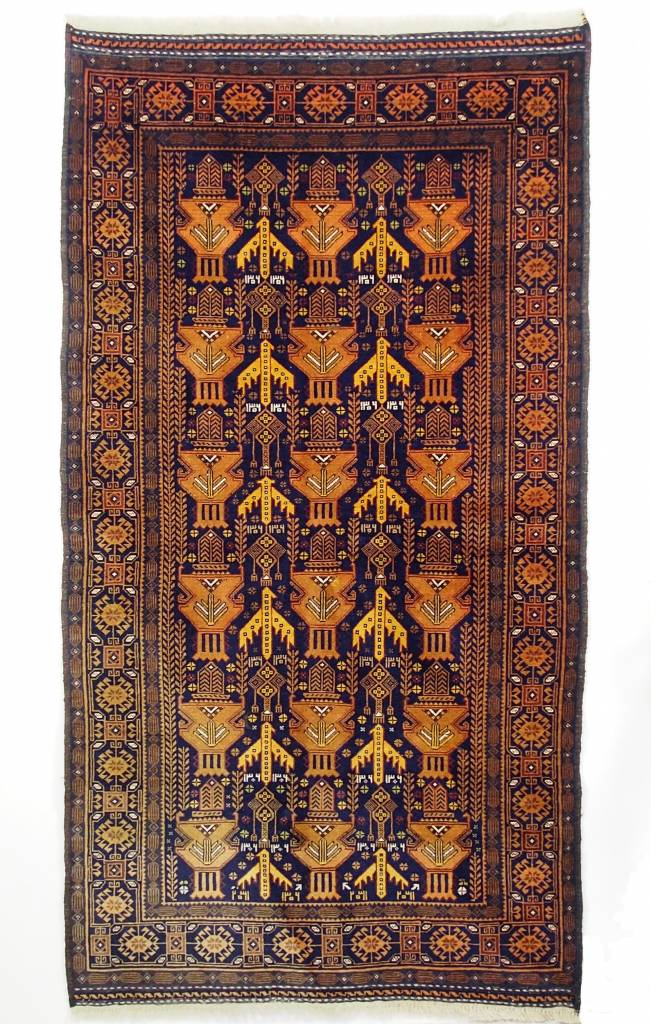 6,9x3,7 ft unique genuine old nomadic Afghan Warrug Afghanistan Kriegteppich NR;17/3