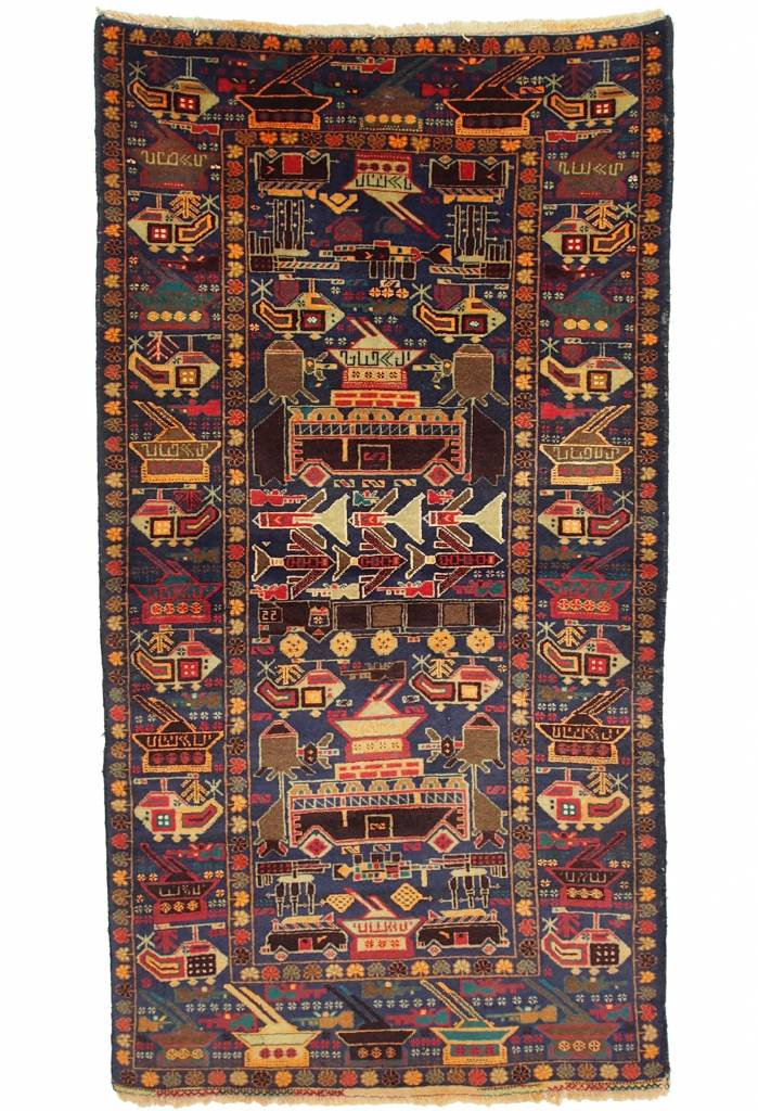 genuine old nomadic Afghan Warrug Russian invasion period of Afghanistan No:17/4