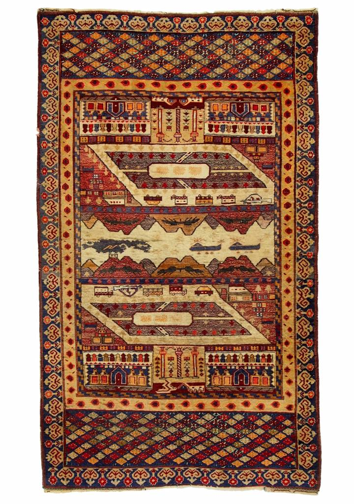 genuine old nomadic Afghan Warrug Russian invasion period of Afghanistan No:17/5