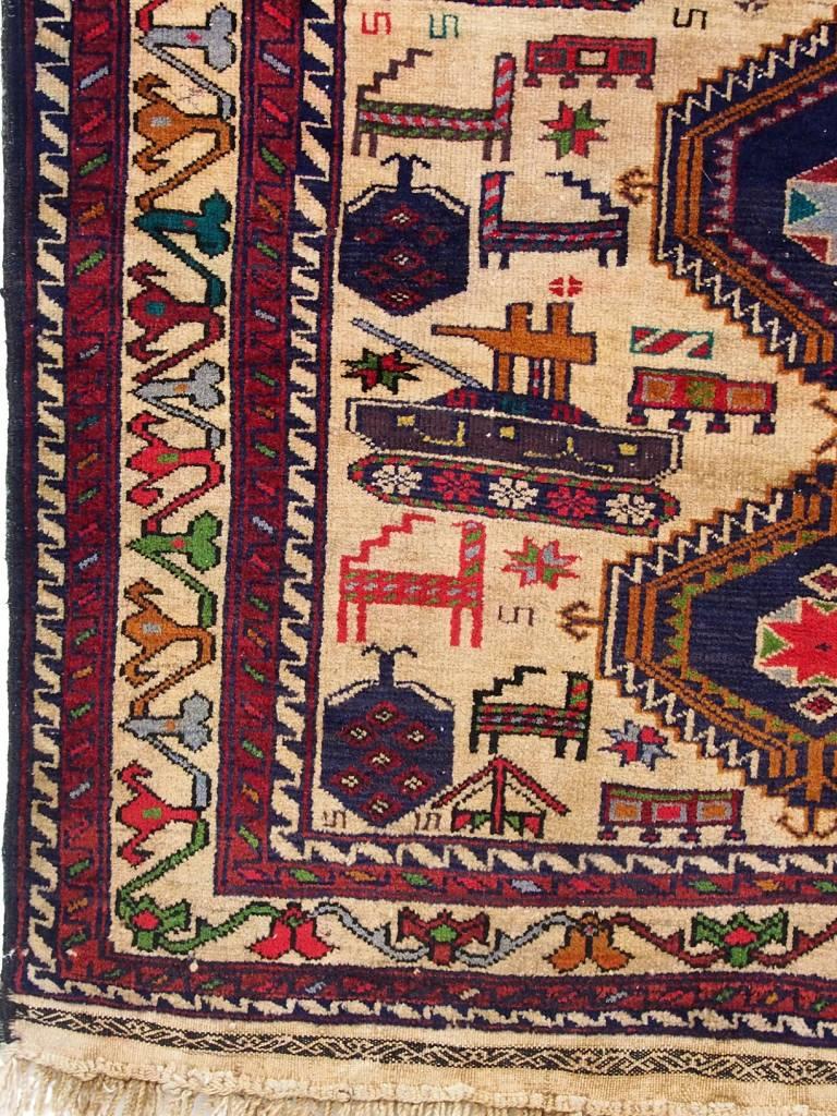 genuine old nomadic Afghan Warrug Russian invasion period of Afghanistan No:33