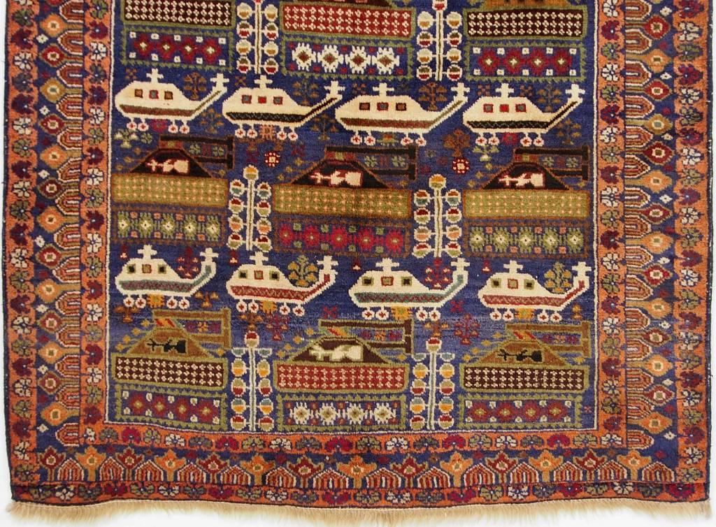 195x111 cm  original  Kriegsteppich aus Afghanistan – warrug Nr:2014/5