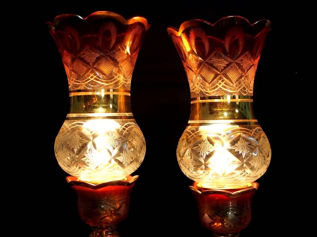 Antike  osmanische  islamische Glas Kristall böhmische Kronleuchter Lampe N:A