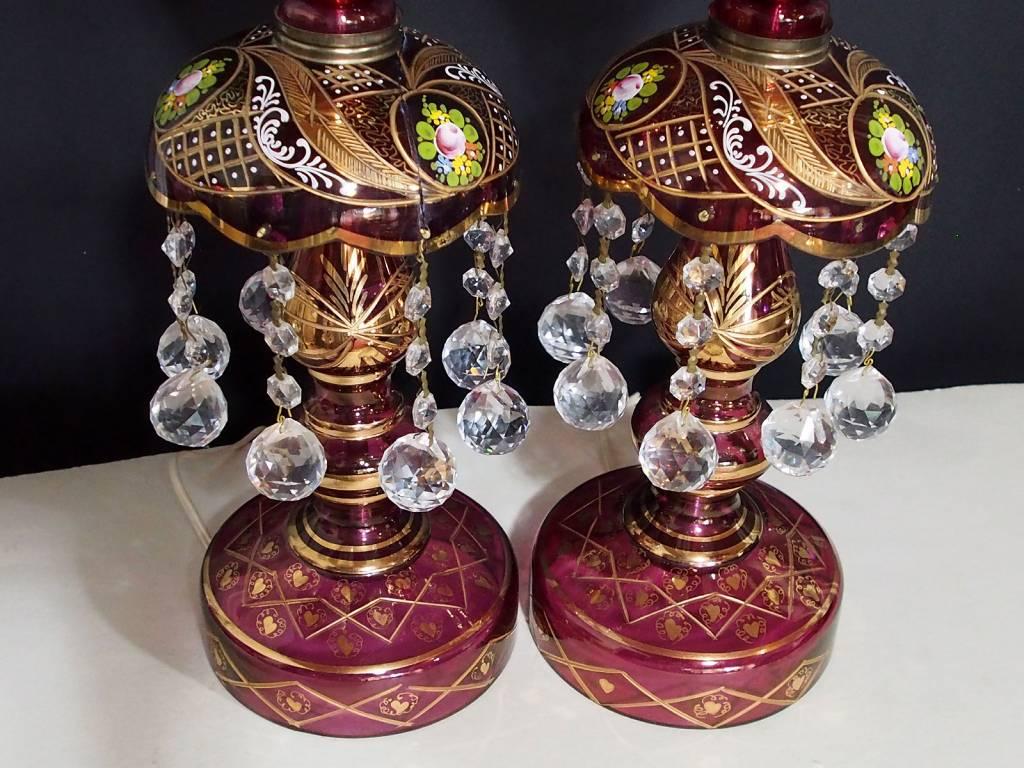 Antike  osmanische  islamische Glas Kristall böhmische Kronleuchter Lampe N:C