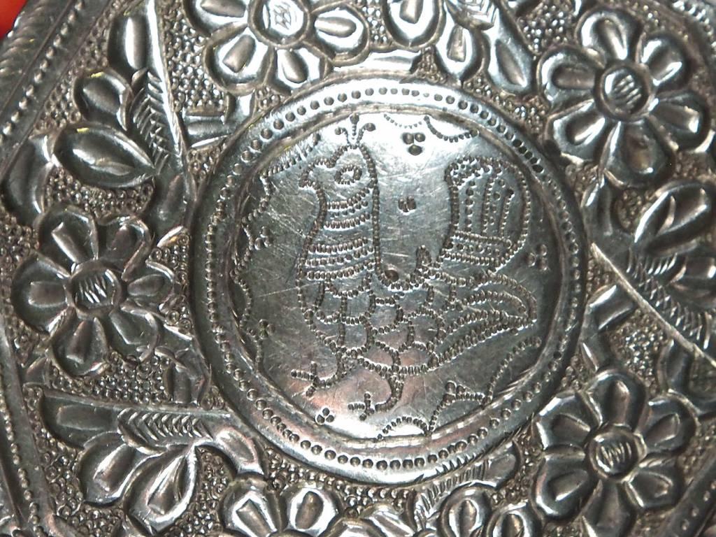 Antike 19. Jh. Islamische Amulett Box Halskette Talisman Silber Anhänger Schmuck Koran tasche Bazuband Oberarm Amulette Afghanistan 18/O