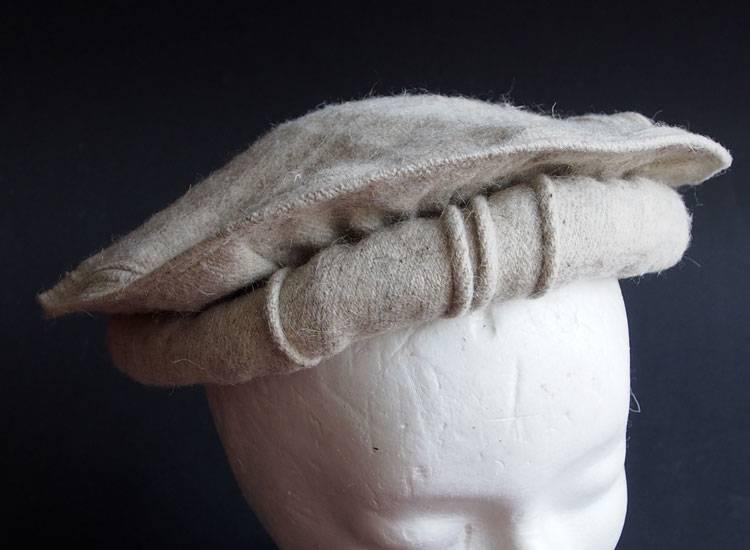 Original Afghanische Premiumqualität Afghan Kopfbedeckung Pakol Mütze wollomütze Pakistan  Grau