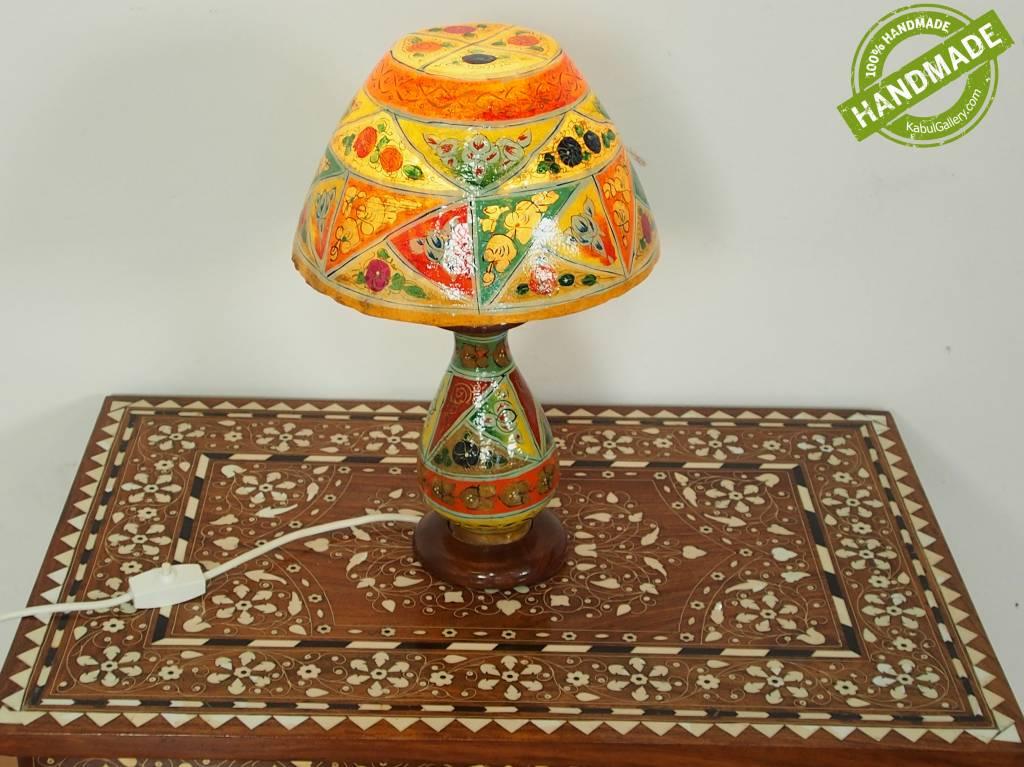 orientalische handbemalte Lampe Kamelleder Tischlampe Nachttischlamp Tischleuchte Nachtlampe Stehleuchte Handarbeit aus Multan Pakistan 18/ 13