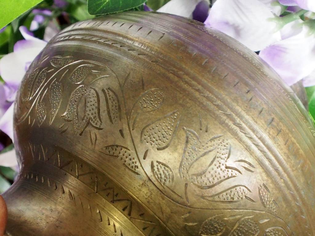 antik Messing Shirodhara gefäß  Eb/8