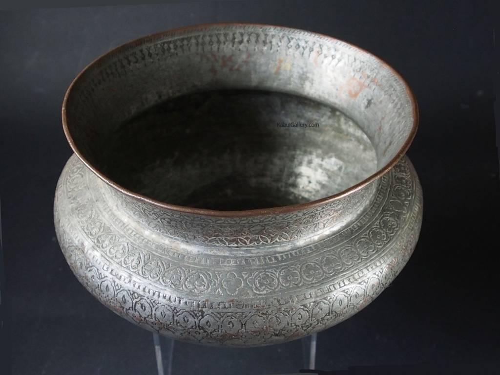 Antique Large islamic Tinned Copper Wine Bowl, 18/19th C. No:Tas/8