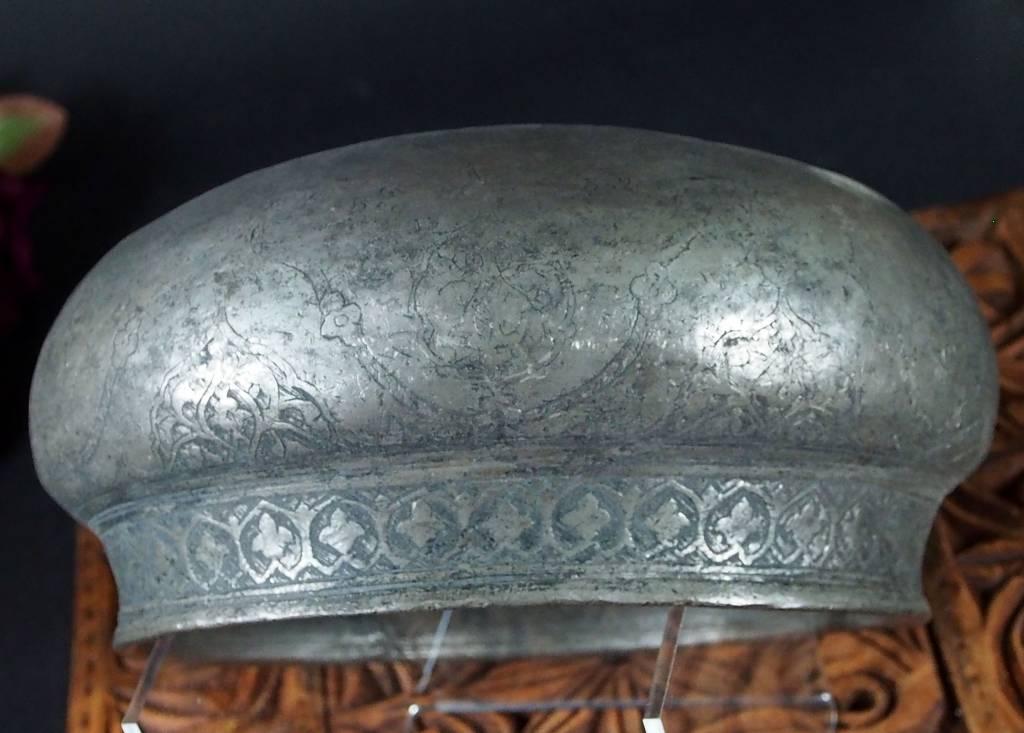 Antique Large islamic Tinned Copper Wine Bowl, 18/19th C. No:Tas/  - 16