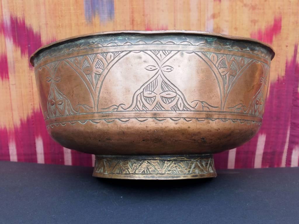 Antique islamic ,  20th century Tinned Copper Bowl No:Jam/ 3