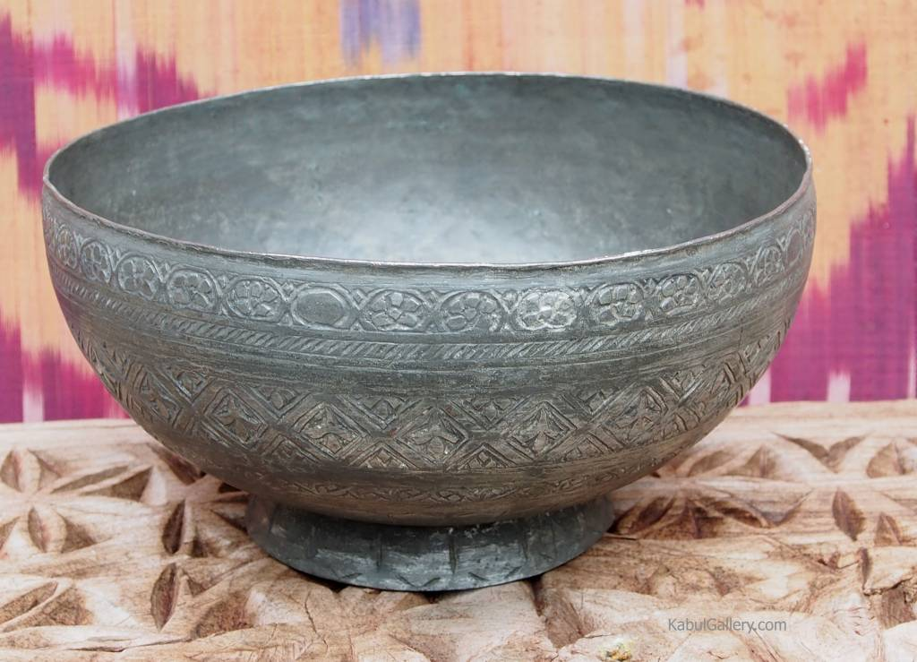 Antique islamic , 20 th century Tinned Copper Bowl No:Jam/5
