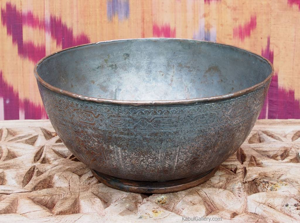 Antique islamic  18th to 19th century Tinned Copper Bowl No:Jam/ 6