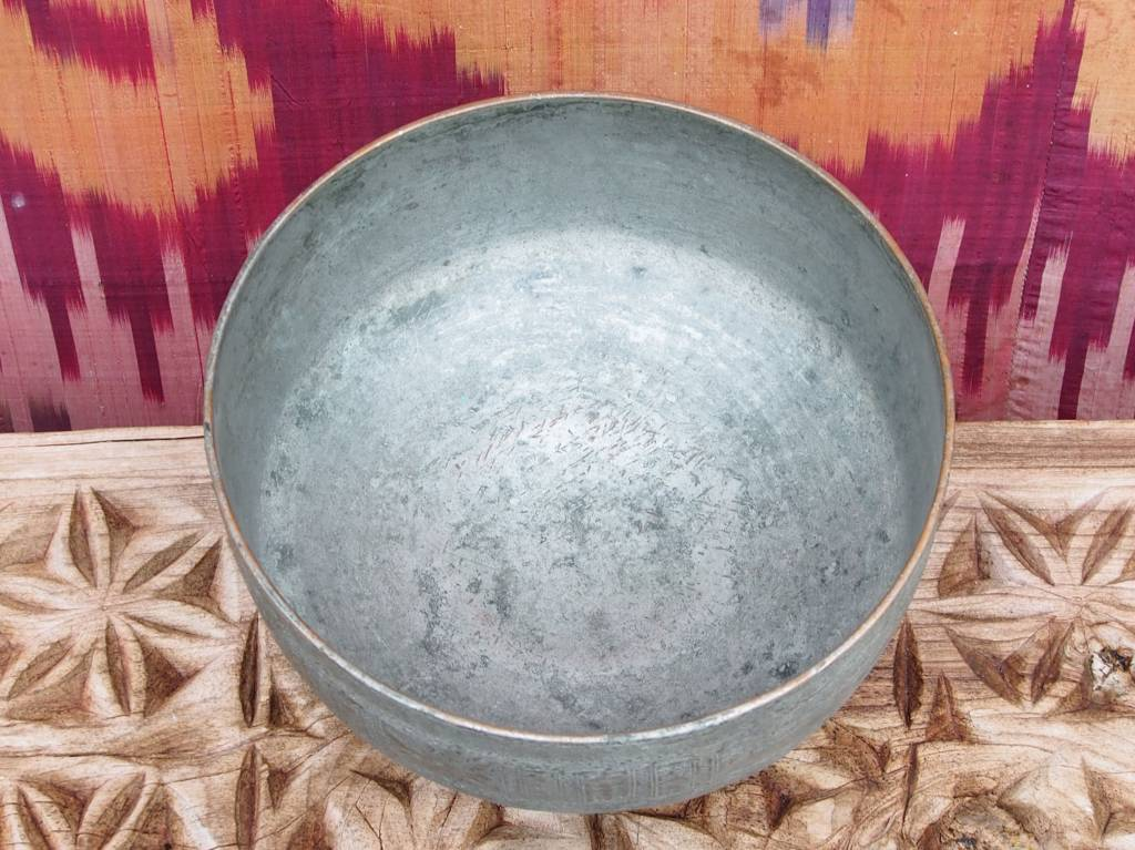 Antique islamic  ,20th century Tinned Copper Bowl No:Jam/7