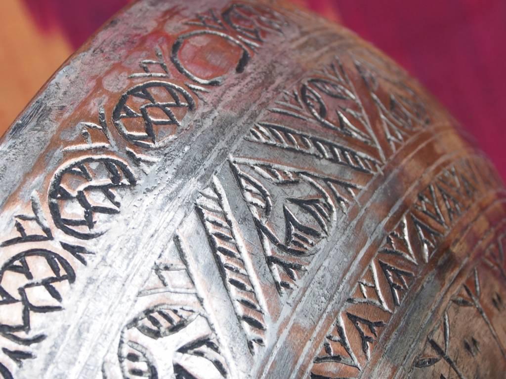 Antique islamic Tinned Copper Bowl No:Jam/41