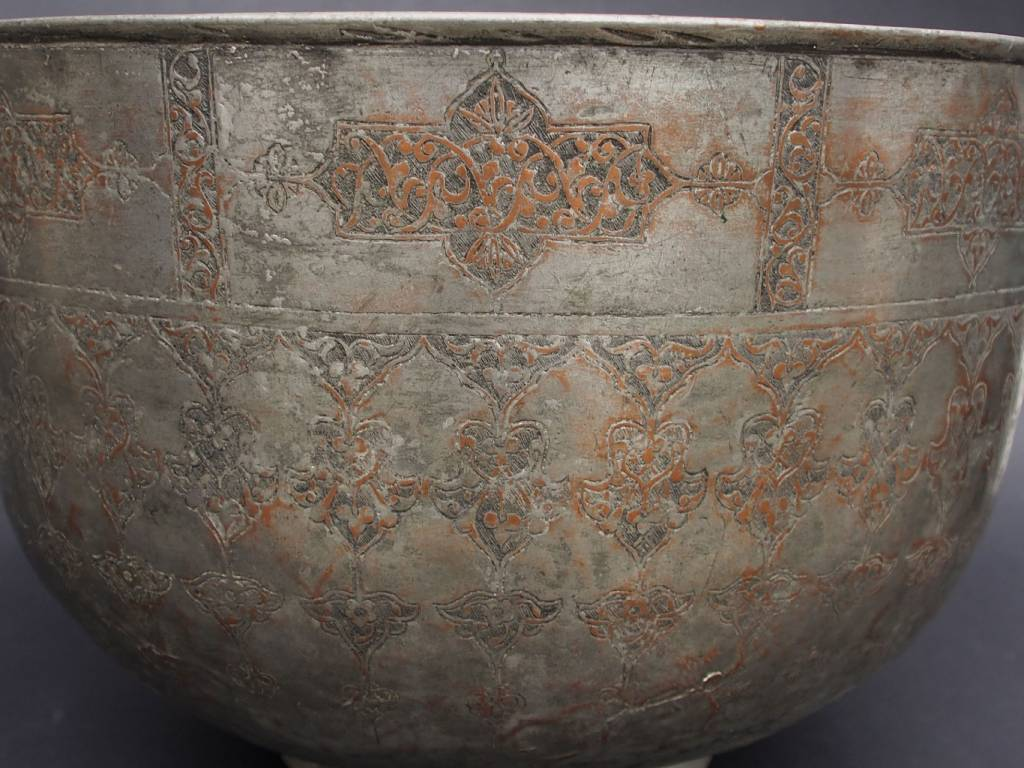 Antique Large 18th to 19th century Tinned Copper Bowl No:Jam/  15