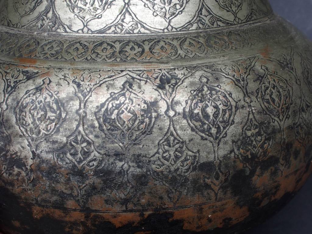 Antique Large islamic 18th to 19th century Tinned Copper Bowl No:دیگ