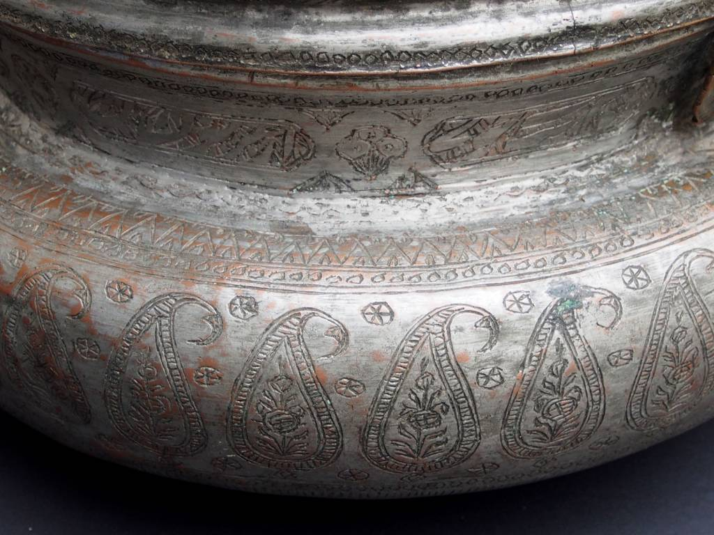 Antique Large High Quality  , Bukhara dynasty 18th to 19th century Tinned Copper Box   with a Lid No:KG-12