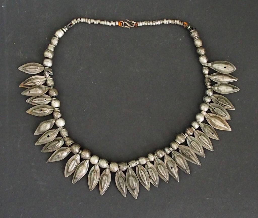 Antike  Turkmenische Nomaden Silber Halsmomente Kette  Afghanistan pakistan No:18/3