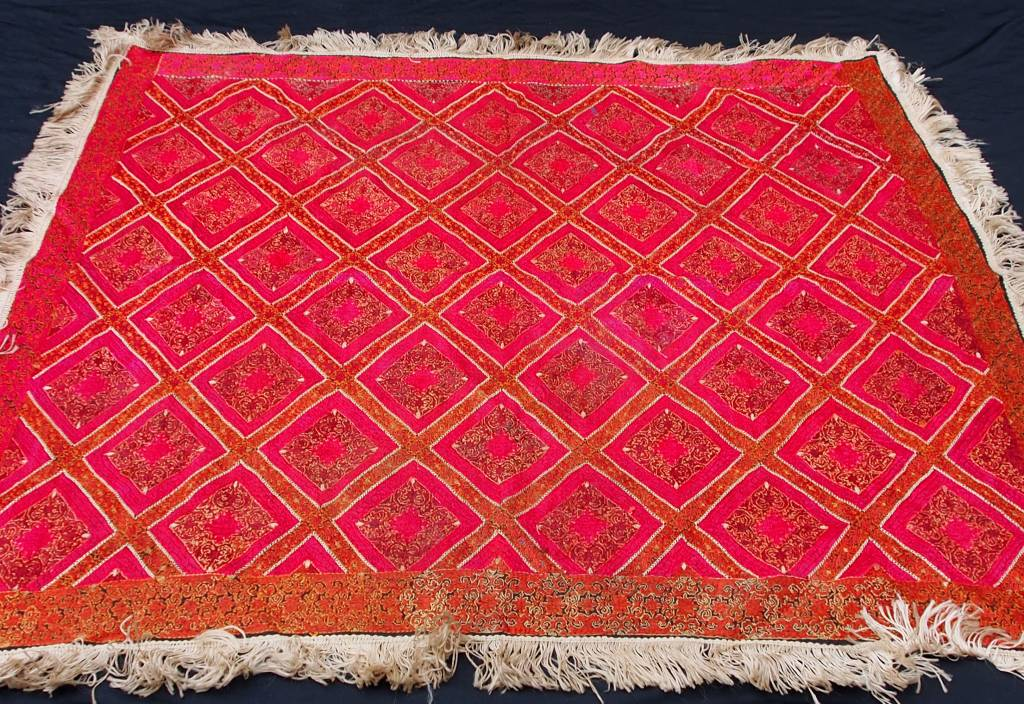 antique  Swat Valley silk embroidery  Tray cloth No:18/B