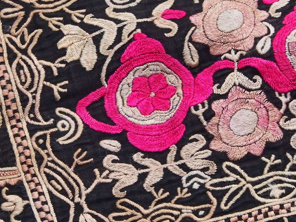 antique Tajek silk embroidery  Tray cloth No:18/6