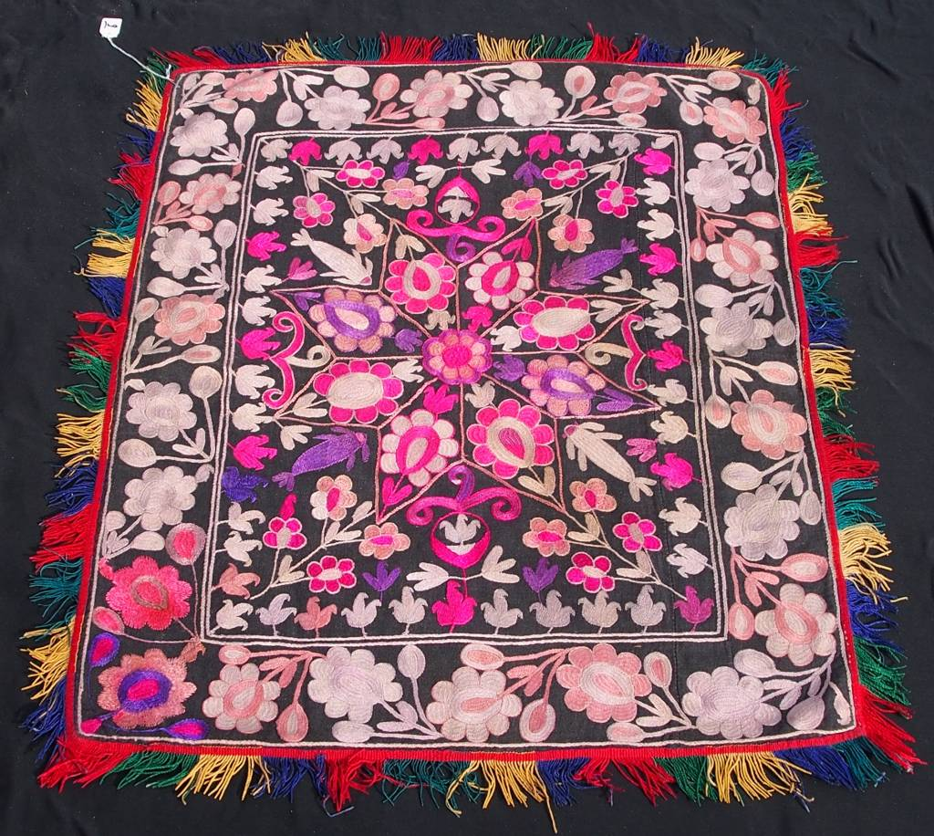 antique Tajek silk embroidery  Tray cloth No:18/21