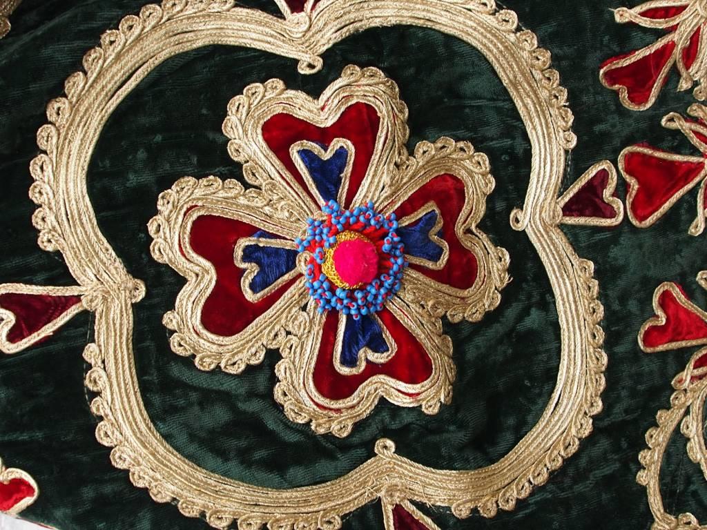 antique  Hazara velvet silk embroidery 19th century  No:18/25